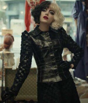 Cruella 2021 Emma Stone Black Jacket