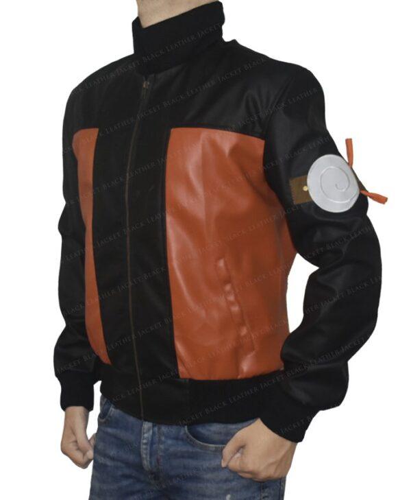 Dragon Ball Z Goku 59 Leather Jacket Left Logo