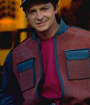 Marty McFly Back To The Future 2 Erect Collar Jacket7