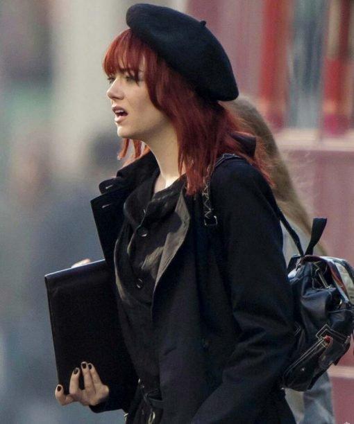 Emma Stone Cruella 2021 Cotton Black Coat