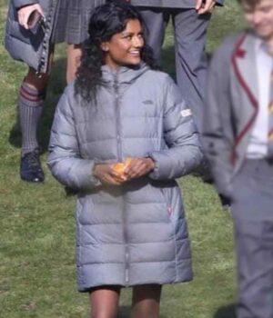 Sex Education Olivia Parachute Grey Coat