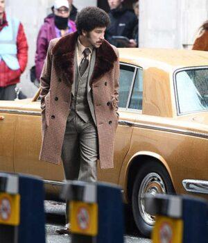 Cruella 2021 Joel Fry Pink checked Coat
