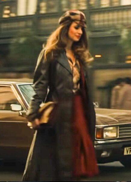 Emily Beecham Cruella 2021 Black Long Coat