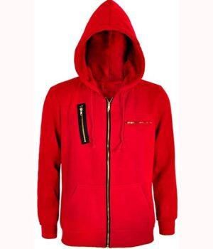 Money Heist La Casa De Papel Red Fleece Hoodie