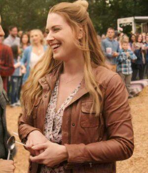 Melinda Monroe Virgin River Brown Leather Jacket