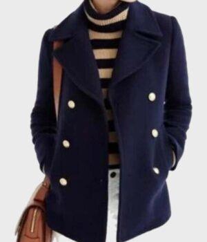 Paige Lassiter Virgin River Blue Coat