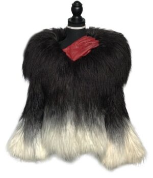 Cruella 2021 Once Upon a Time Deville Fur Jacket