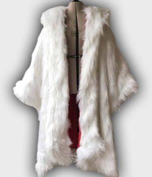 Once Upon a Time Cruella 2021 Deville White Fur Coat