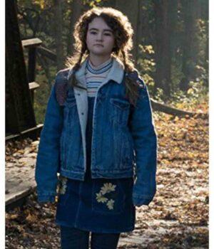 A Quiet Place Millicent Simmonds Blue Denim Jacket