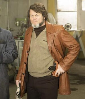 Fargo Karl Weathers Leather Brown Jacket