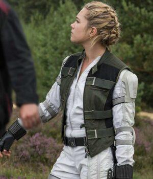 Florence Pugh Black Widow 2021 Yelena Belova Green Vest