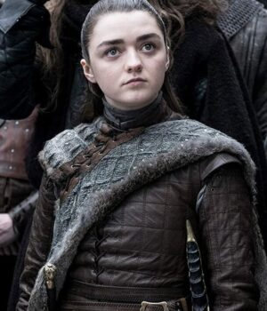 Game Of Thrones Maisie Williams Real Leather Jacket