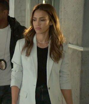 Jessica Alba L.A.'s Finest S02 White Wool Blazer