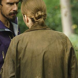 Killing Eve Jodie Comer Green Cotton Coat