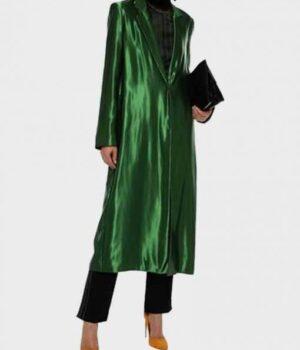 Killing Eve S02 Villanelle Green Satin Coat