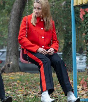 Killing Eve Season 3 Villanelle Wool-Blend Red Jacket