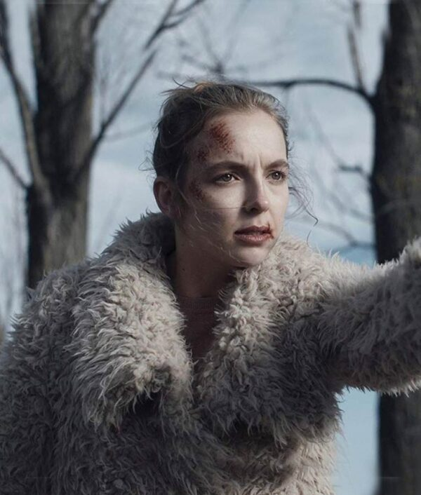 Killing Eve Villanelle half white Fur Jacket