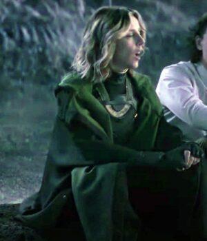 Loki Sylvie Green Cotton Trench Coat