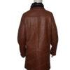 Mens RAF B3 Bomber Warm Duffle Brown Real Leather Coat Back