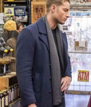 This Is Us S04 Kevin Pearson Blue Wool Coat