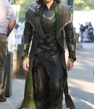 Tom Hiddleston Loki Leather Costume Coat