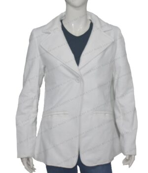 Women's White Wool Blazer