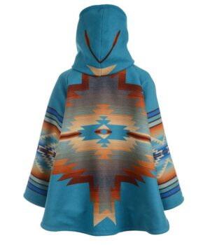 Yellowstone Beth Dutton Blue Blanket Hoodie Coat Back