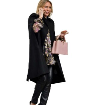 Younger Kelsey Peters Black Cape Coat