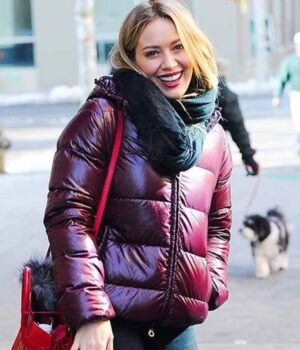 Younger Kelsey Peters Maroon Puffer Hooded Jacket