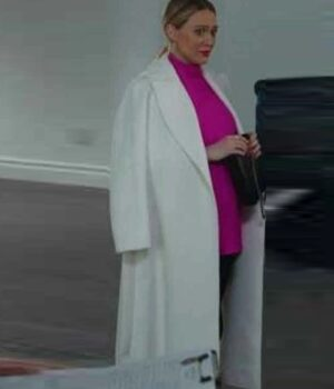 Younger S07 Kelsey Peters White Wool Coat