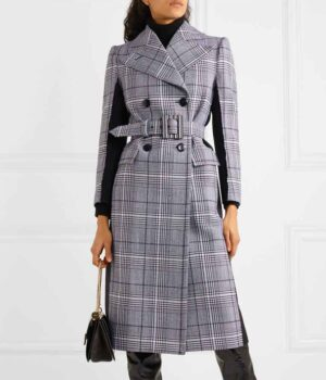 Younger S07 Liza Miller Checked Wool Coat