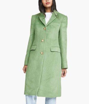 Younger S07 Liza Miller Wool Blend Green Coat