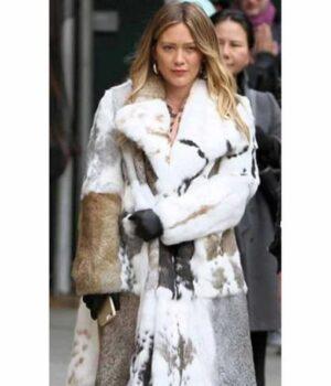 Younger Season 07 Hilary Duff Fur Fabric Coat