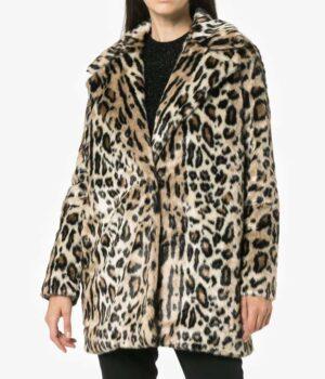 Younger Season 6 Lauren Heller Cheetah Print Coat