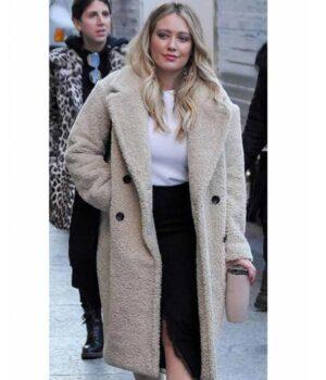 Younger Season 7 Hilary Duff Sherpa Coat