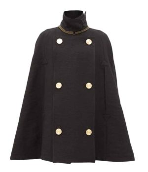 Younger Season 7 Maggie Black Cape Coat