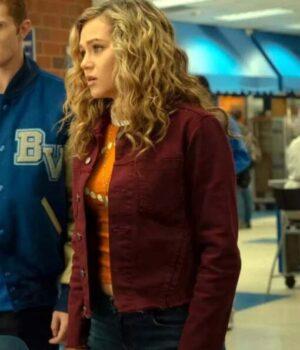 Courtney-Whitmore-Stargirl-Maroon-Cotton-Jacket-Image