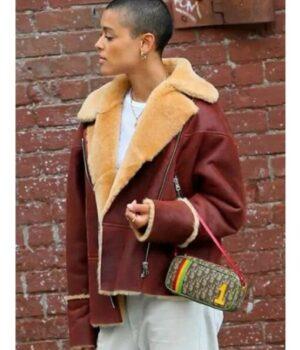 Gossip-Girl-Julien-Calloway-Shearling-Fur-Jacket-Side