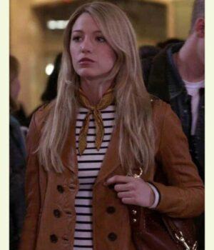Gossip-Girl-Serena-Van-Woodsen-Brown-Leather-Jacket-510x612
