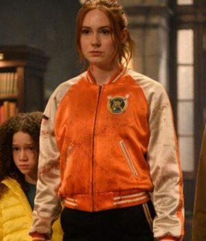 Gunpowder Milkshake Eva Orange and White Fleece Jacket