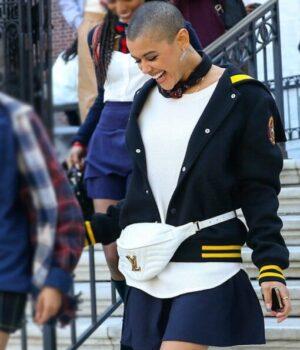 Jordan-Alexander-Gossip-Girl-Black-Varsity-Jacket-Side