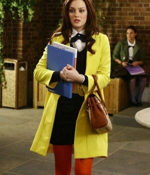 Gossip Girl Blair Waldorf Yellow Trench Coat
