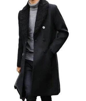 Money Heist Berlin Heather Black Wool Coat 3