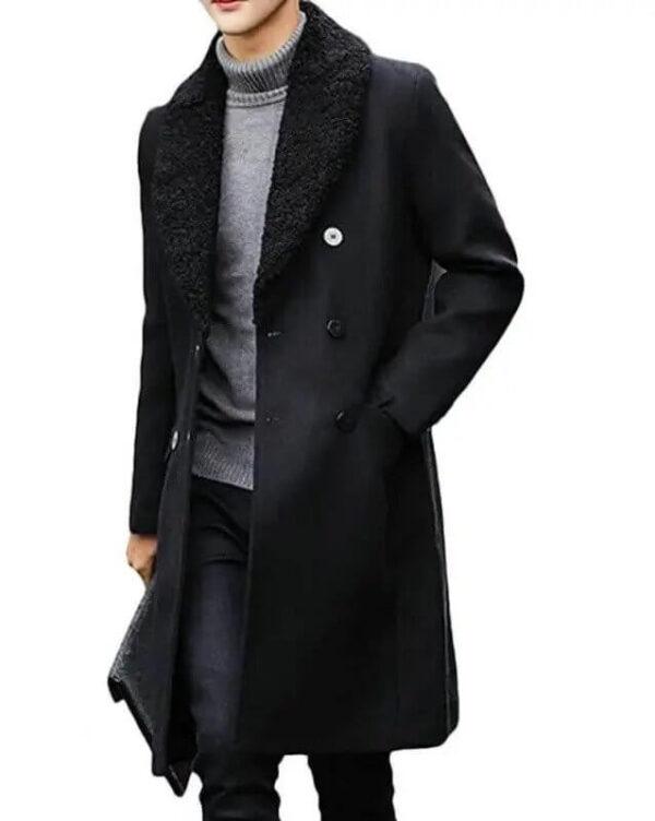 Money Heist Berlin Black Wool Coat