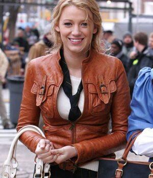Serena-Woodsen-Gossip-Girl-Leather-Jacket-Front
