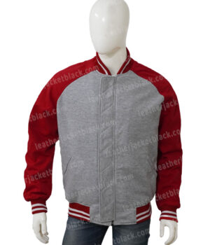 Shang Chi Red Cotton Bomber Jacket Front
