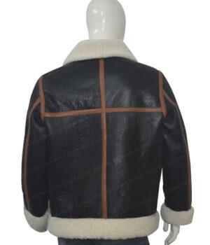 B3 Bomber Shearling Leather Jacket Back