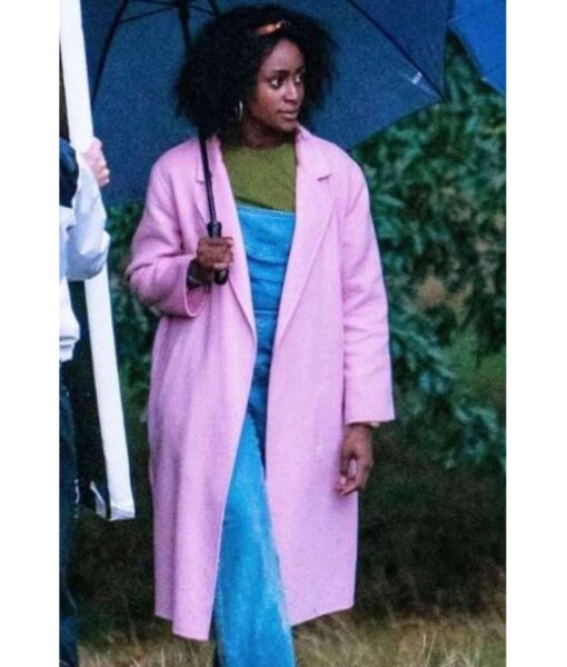 Behind-Her-Eyes-Louise-Pink-Long-Coat-Front