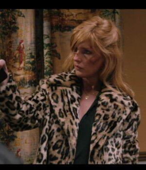 Beth Dutton Yellowstone S02 Leopard Print Coat