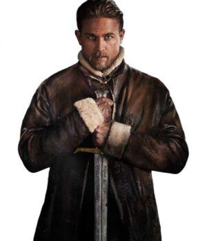 King Arthur Legend Of The Sword Brown Shearling Inner Coat 1